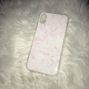 Accessories - BOGO iPhone X case clear with Pink / White marble